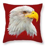 Bald Eagle Painting Throw Pillow