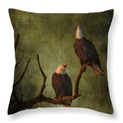 Bald Eagle Serenade Throw Pillow