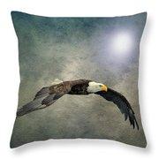 Bald Eagle Textured Art Throw Pillow