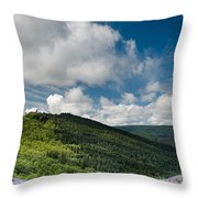 Bald Hills In Spring Throw Pillow