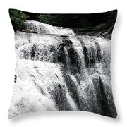 Bald River Falls Throw Pillow