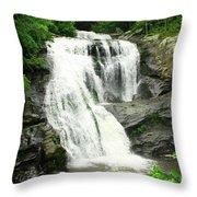 Bald River Falls Throw Pillow