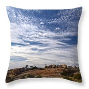 Bald Rock Glacial Erratics Throw Pillow