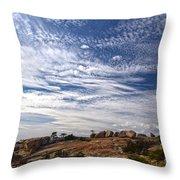 Bald Rock Glacial Erratics Throw Pillow