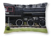 Baldwin 0-6-0 Steam Locomotive - Gorham New Hampshire Throw Pillow