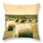 Baled And Ready Throw Pillow