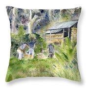 Bali Farmer Throw Pillow