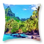 Bali Hai Throw Pillow