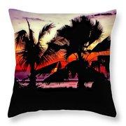 Bali Sunset Polaroid Transfer  Throw Pillow