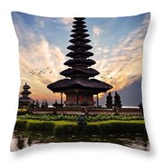Bali Water Temple 2 Throw Pillow