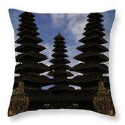 Bali Water Temple Throw Pillow