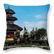 Bali Wayer Temple Throw Pillow