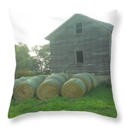 Baling Out Throw Pillow