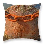 Ball And Chain Throw Pillow by Adam Jewell