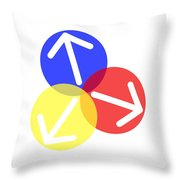 Ball Arrows Throw Pillow