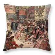 Ball At The Court, Illustration Throw Pillow