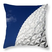 Ball In The Blue Throw Pillow