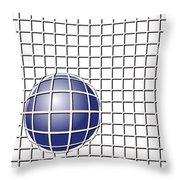 Ball In The Net Throw Pillow