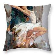 Ballerina 22 Throw Pillow
