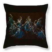 Ballerina Ghosts Throw Pillow by Jani Freimann