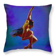 Ballerina On Point Throw Pillow