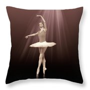 Ballerina On Pointe In Russet Tint  Throw Pillow
