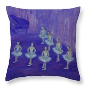 Ballerina Rehearsal Throw Pillow