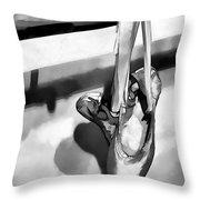 Ballerina Slippers-bw Throw Pillow