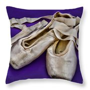 Ballerina Slippers Throw Pillow