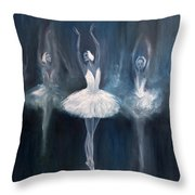 Ballerina. Swan Lake. Throw Pillow