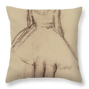 Ballerina Viewed From The Back  Throw Pillow