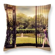 Ballet At The Vanderbilt Gate Throw Pillow