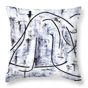Ballet Dancer Throw Pillow by Kamil Swiatek