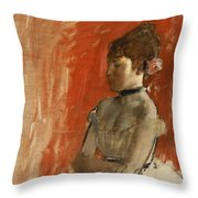 Ballet Dancer With Arms Crossed Throw Pillow