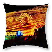 Ballons Ride At Night Throw Pillow