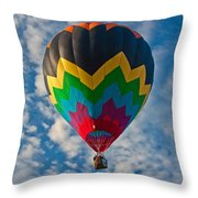 Balloon At Sunrise Throw Pillow