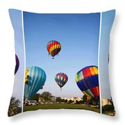 Balloon Festival Panels Throw Pillow