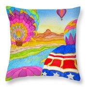 Balloon Festival Yuma Throw Pillow