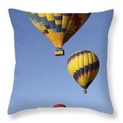 Balloon Fiesta 2012 Throw Pillow by Mike McGlothlen