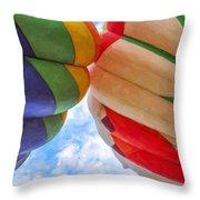 Balloon Fist Bump Throw Pillow