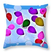 Balloon Frenzy Throw Pillow