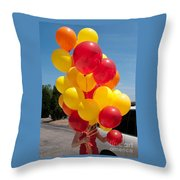 Balloon Girl Throw Pillow