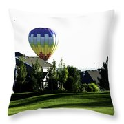 Balloon House Throw Pillow
