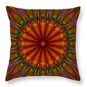 Balloon Kaleidoscope Throw Pillow
