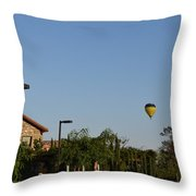 Balloon Over Lorimar Throw Pillow
