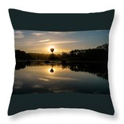 Balloon Over Snohomish River Throw Pillow