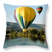 Balloon Reflections Throw Pillow