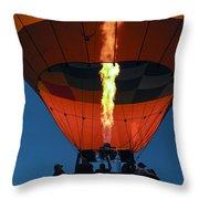 Balloon Ride At Dawn Throw Pillow