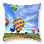 Balloonfest4 Throw Pillow by Scott Mahon