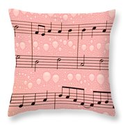 Balloons And Music Throw Pillow
